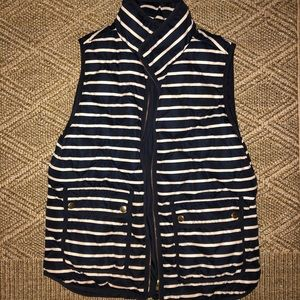 JCrew Navy / White Stripe Vest Size M